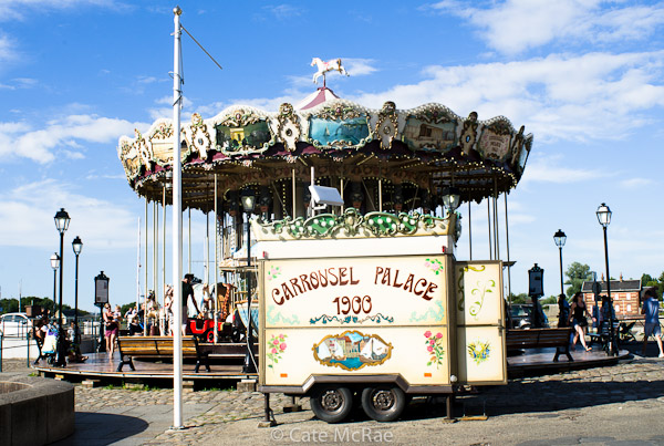 Carousel, Honfleur © Copyright Cate McRae 2013 All Rights Reserved