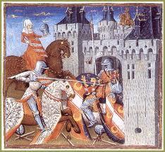 Asalto a un castillo durante la Edad Media