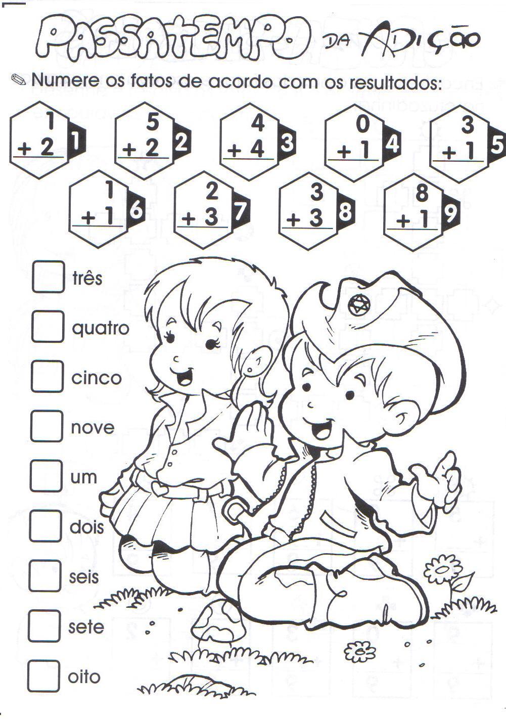Favoritos Atividades de Matemática sobre Adição - Mundinho da Criança BT64