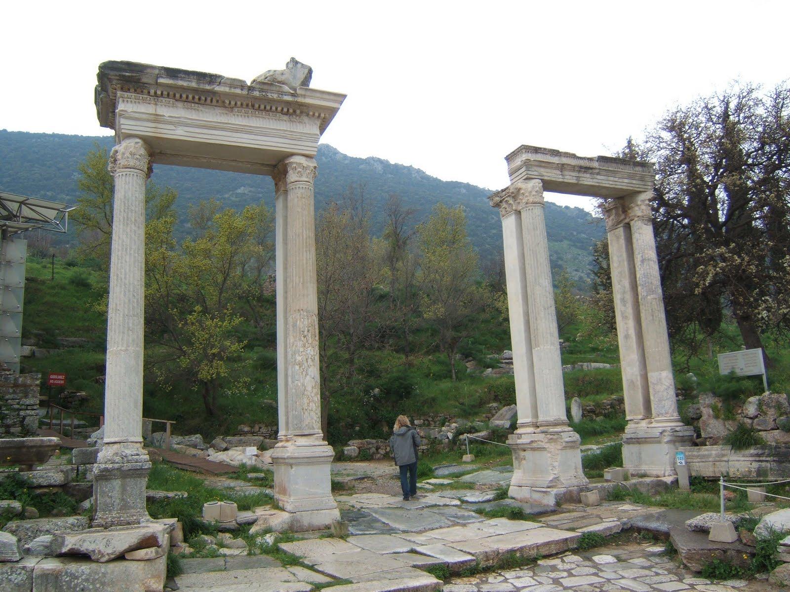 Columns at Ephesus.