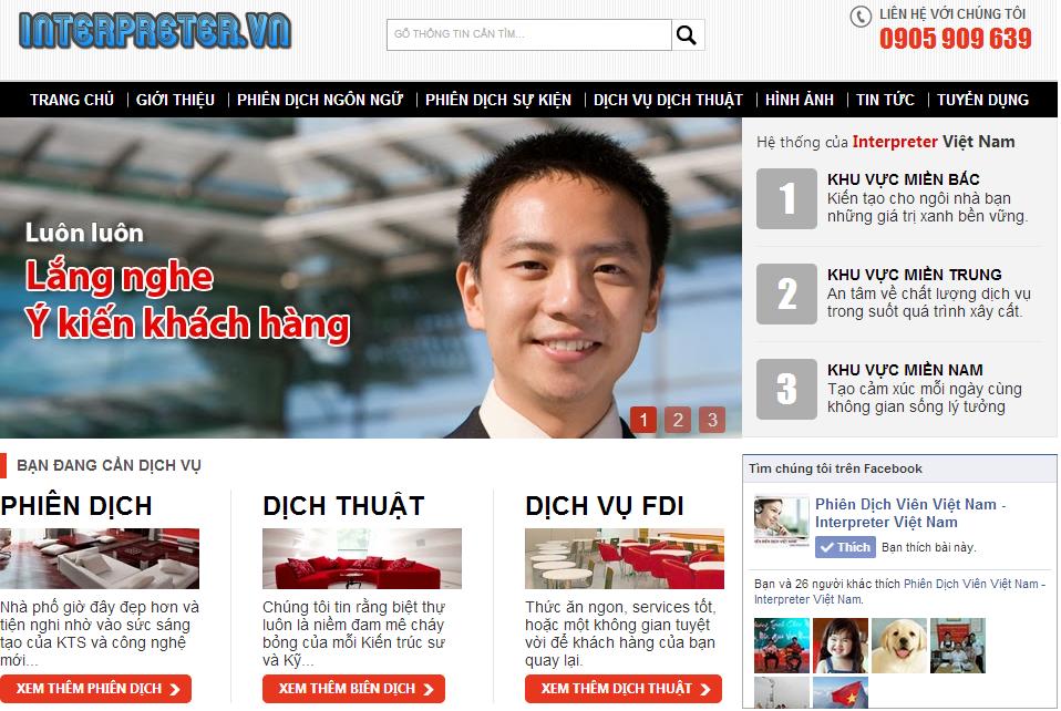 Template Blogspot Phiên Dịch Viên, Theme Blogger Đẹp Chuyên Nghiệp