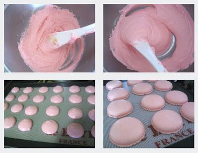 Macarons au sucre cuit2 Pâte à macarons avec le sucre cuit