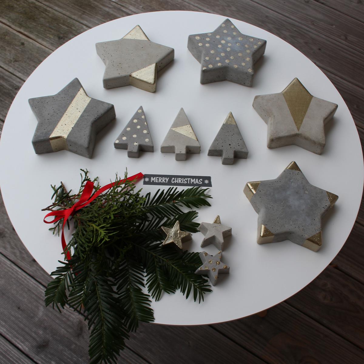 4 freizeiten diy betonsterne frohe weihnachten. Black Bedroom Furniture Sets. Home Design Ideas