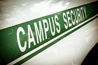 Campus security sign.