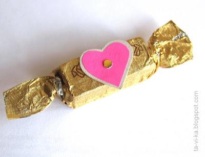 валентинка-конфета valentine