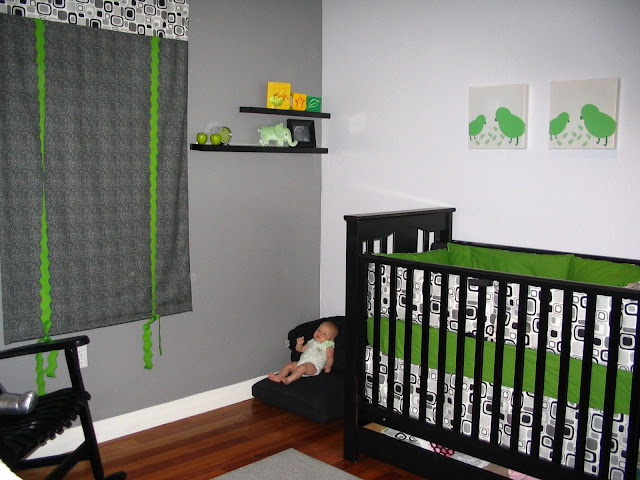 baby room ideas brown and green