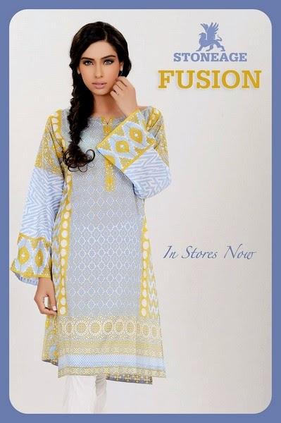 Stoneage-Fusion Kurti / Kurta Dresses