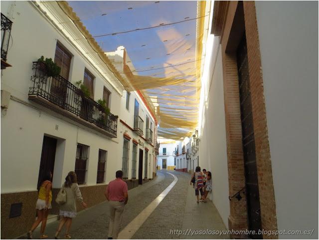 Calle Prim, toldada
