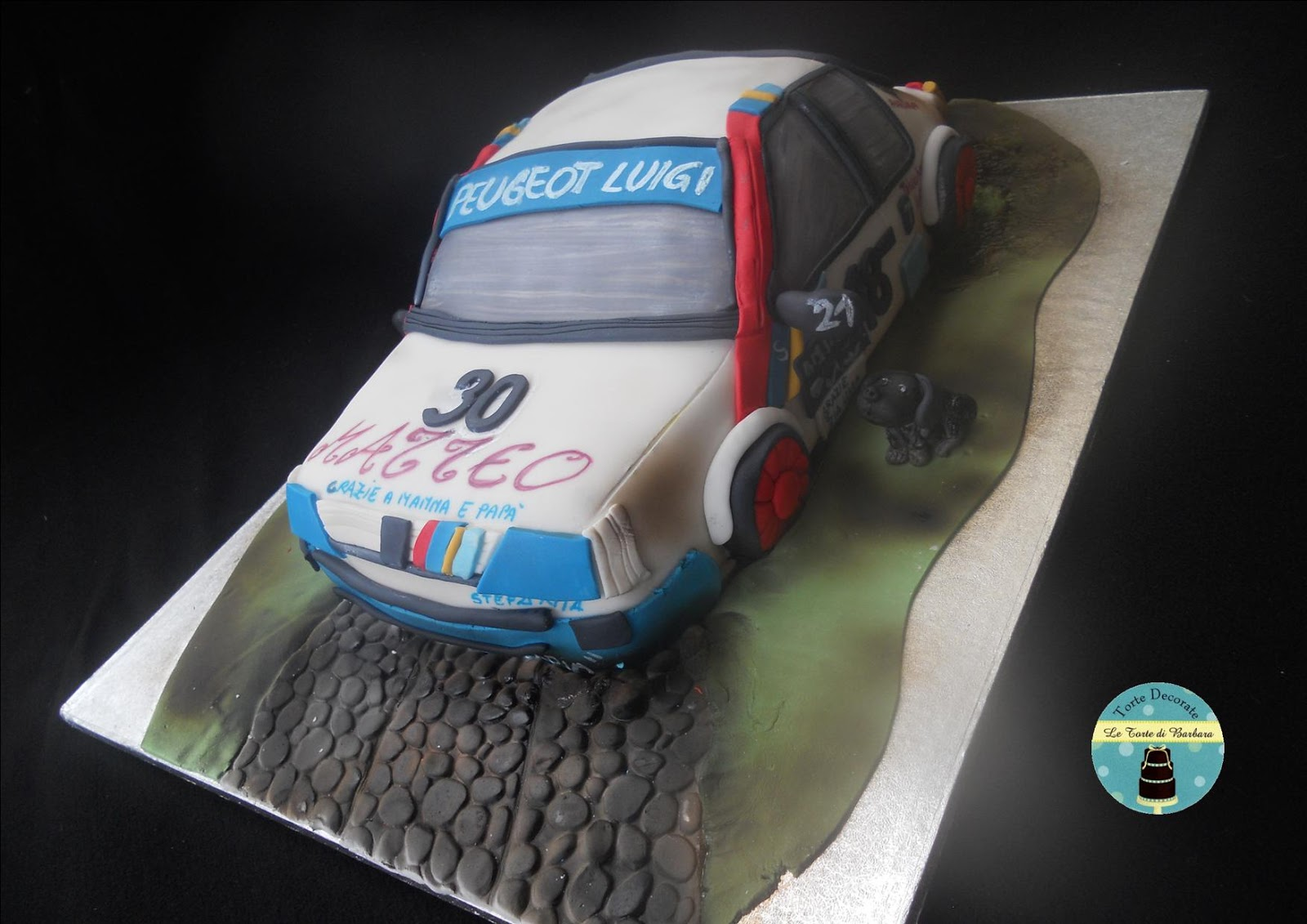 Letto A Forma Di Macchina Da Corsa : Le torte di barbara: torta macchina da corsa