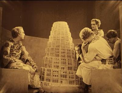 The tower of Babel in Metropolis film