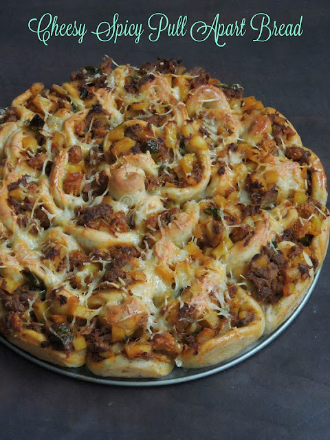 Cheesy Spicy Pull Apart Bread