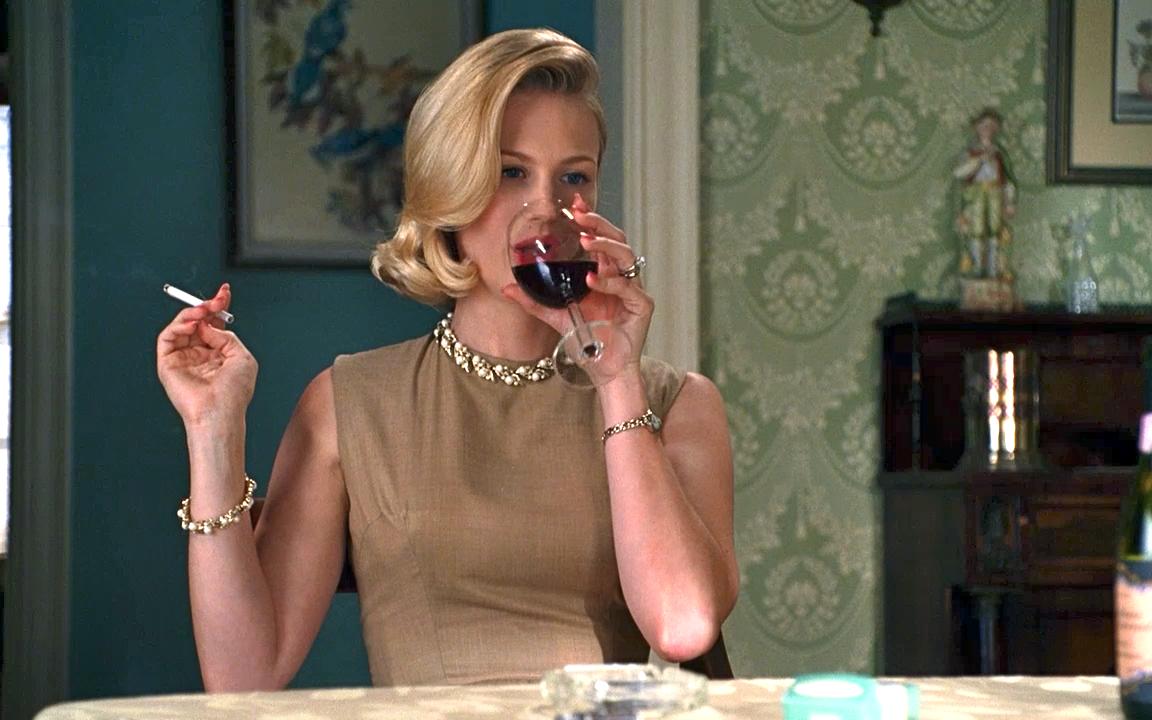 betty draper drinking wine gt fashion diary