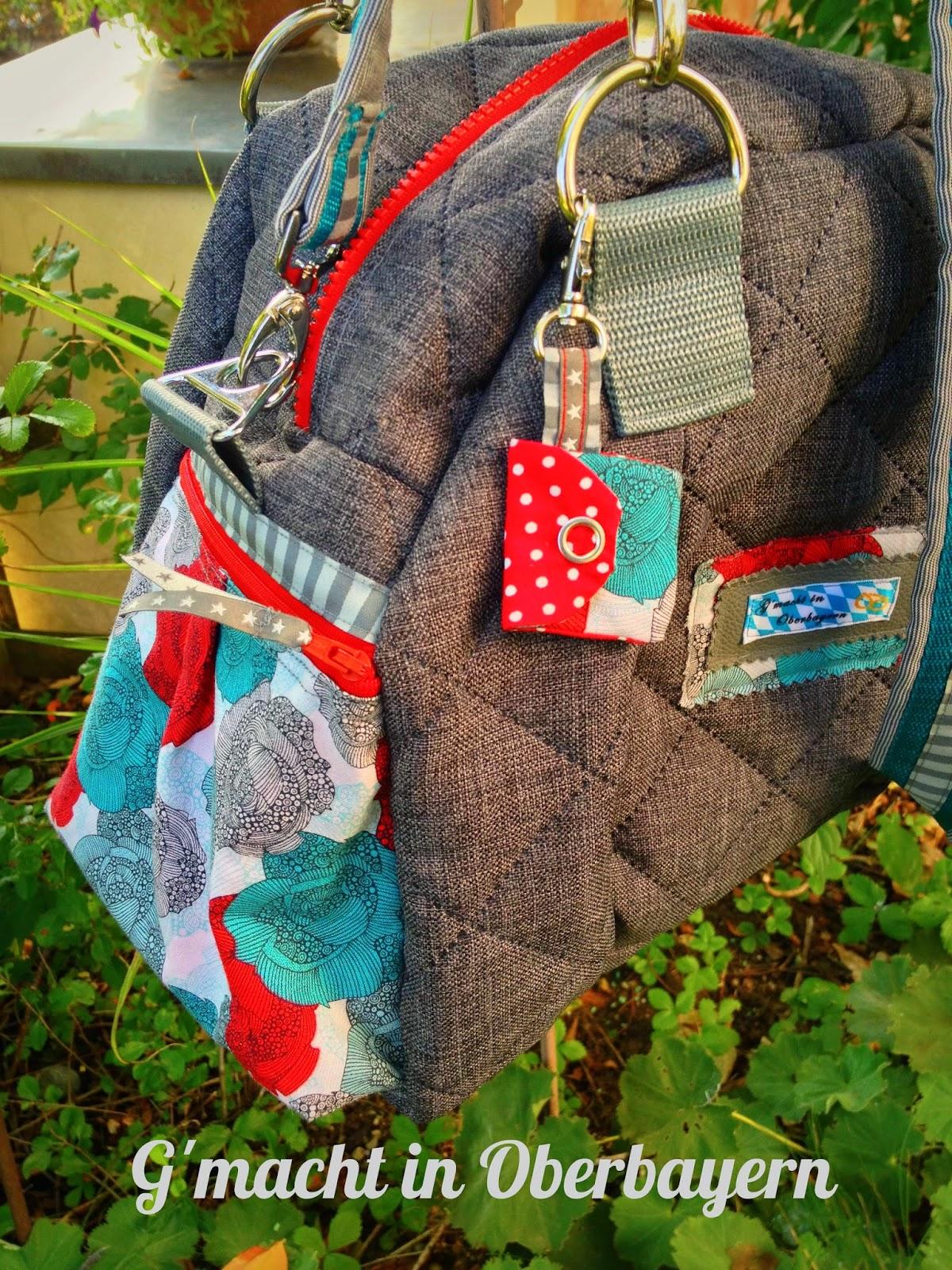 G'macht in Oberbayern: Kugeltasche für eine Rosenliebhaberin