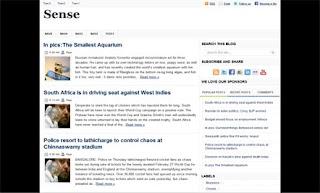 Sense Blogger Template