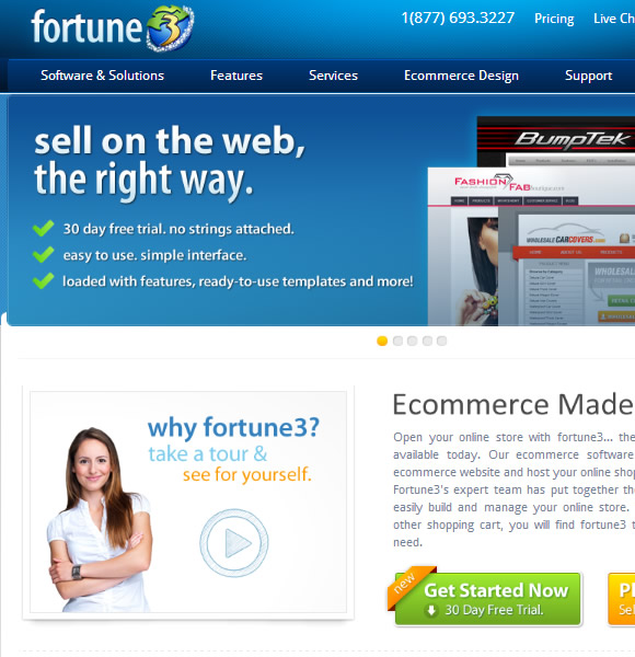 Ecommerce Website Name : Fortune 3