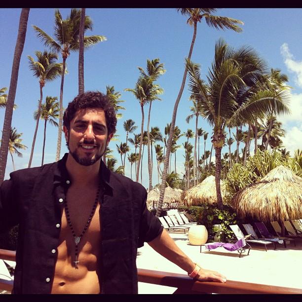 Marcos Mion em Punta Cana Reprodução/Instagram - 11/05/12