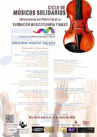 ciclo músicos solidarios fundación musicoterapia y salud