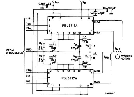 Diagram ingram pbl3717a motor stepper driver Step motor driver circuit