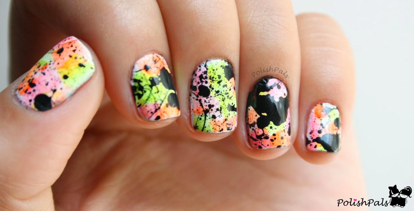 Neon Splatter Paint Nails Splatter Paint Nails