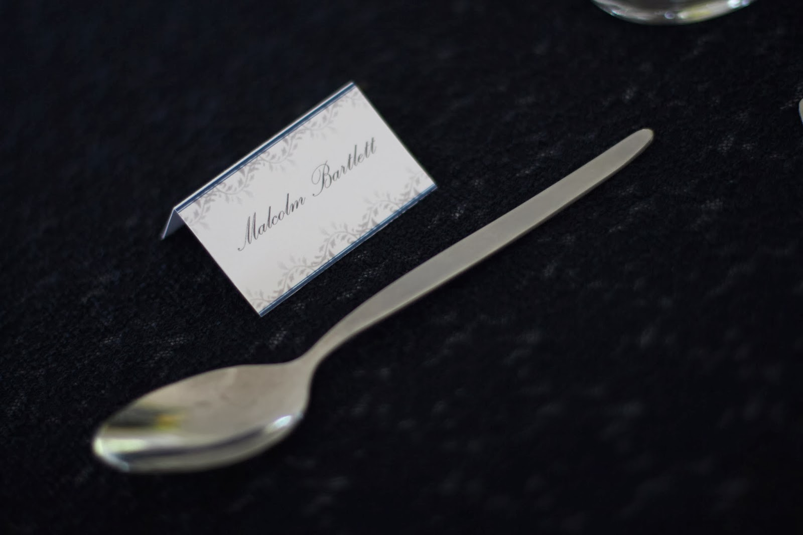 navy blue and yellow wedding stationary