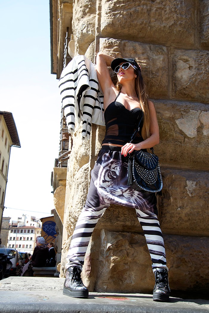 pantaloni tigre