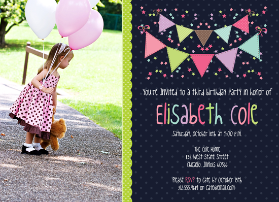 erin bradley designs new photoshop template bunting birthday invitations. Black Bedroom Furniture Sets. Home Design Ideas