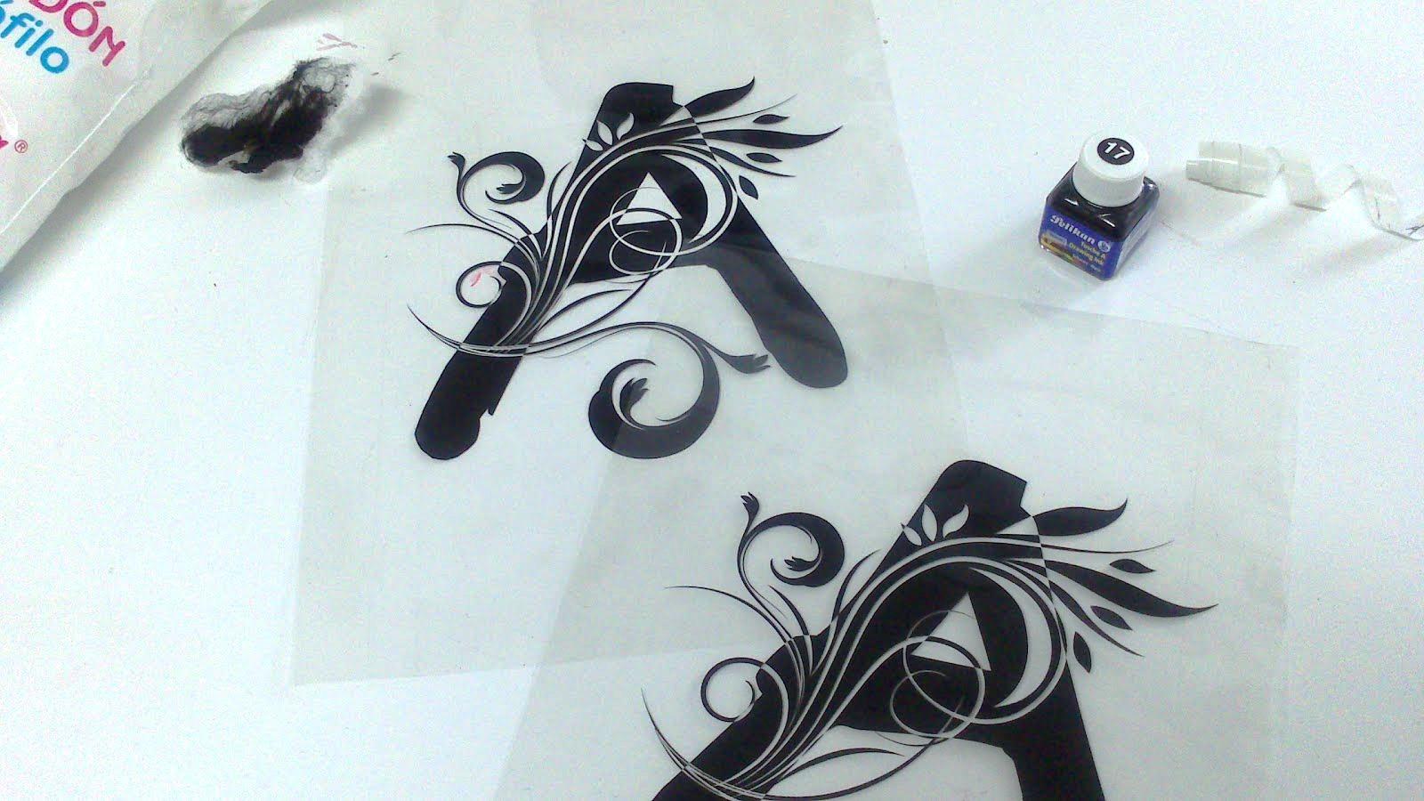 Seriartd2 arte en serigraf a serigrafia de letras con - Letras para serigrafia ...