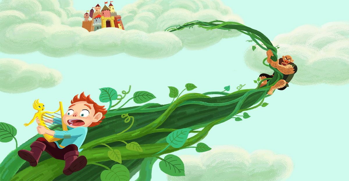 Kate Jeong's illustration: Jack and the Beanstalk