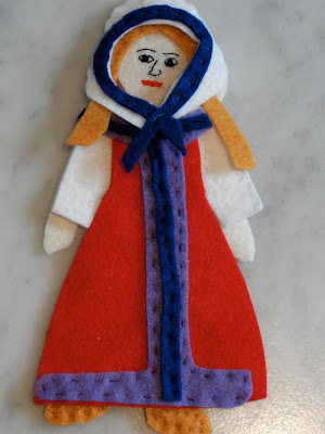 felt russian doll for child
