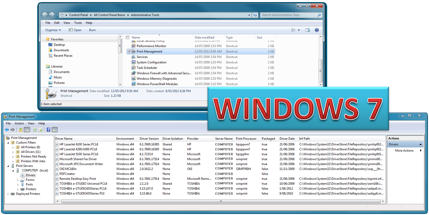 delete printer drivers server 2008 r2
