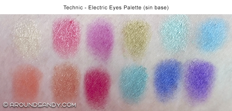 technic electric eyes palette swatches
