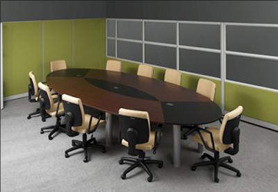 Desain Meja Meeting Room