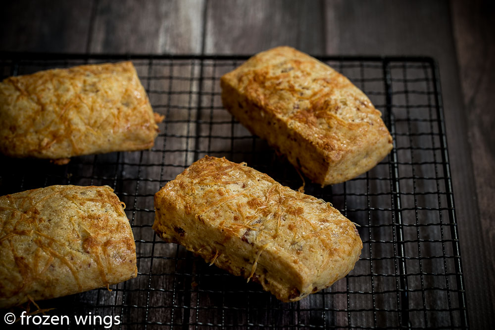 frozen wings: Bacon and Cheese Scones ( Thomas Keller )