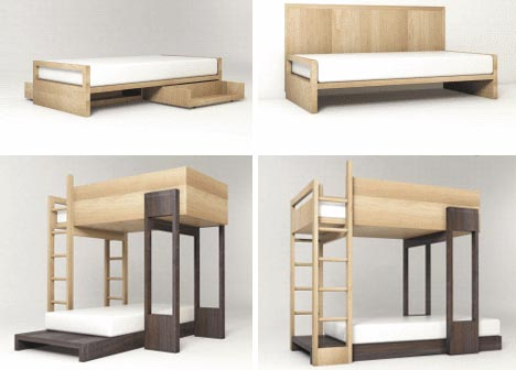 ... & Thrifting Interior Designing Ideas: How to build a wooden bunk bed