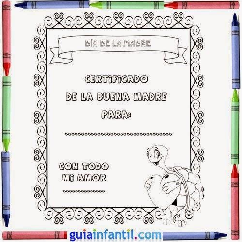 Maestra de Infantil: Tarjetas para colorear en el día de la madre