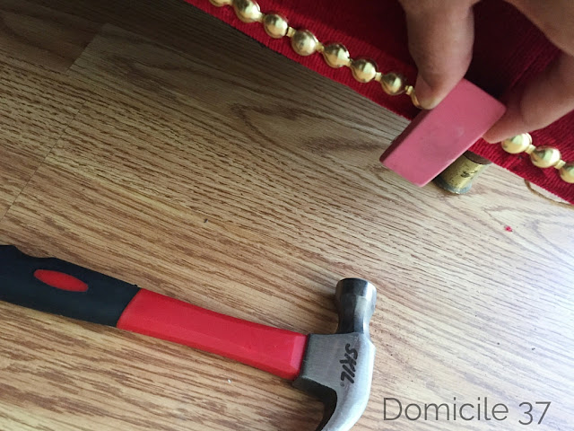 Decorative nailhead trim, DIY brass nailhead's on sofa, Decorative trim on couch