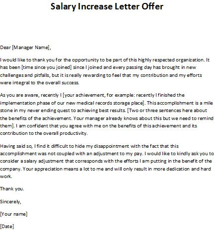 salary negotiation letter