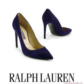 Crown Princess Victoria style RALPH LAUREN Suede Celia Pump
