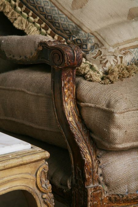 Eye for design from the barn to the manor decorating for Decorative burlap fabric