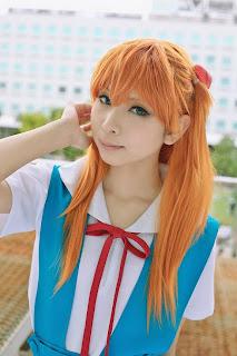 Asuka Langley Soryu (Wearing Seifuku) Cosplay by Kanda Midori
