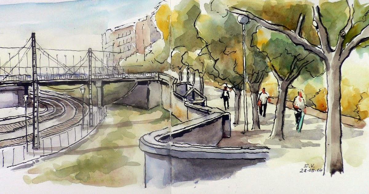 Urban sketchers spain el mundo dibujo a dibujo barrio - Barrio de sant andreu ...