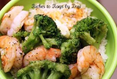 Steamed Shrimp and Broccoli with Rice