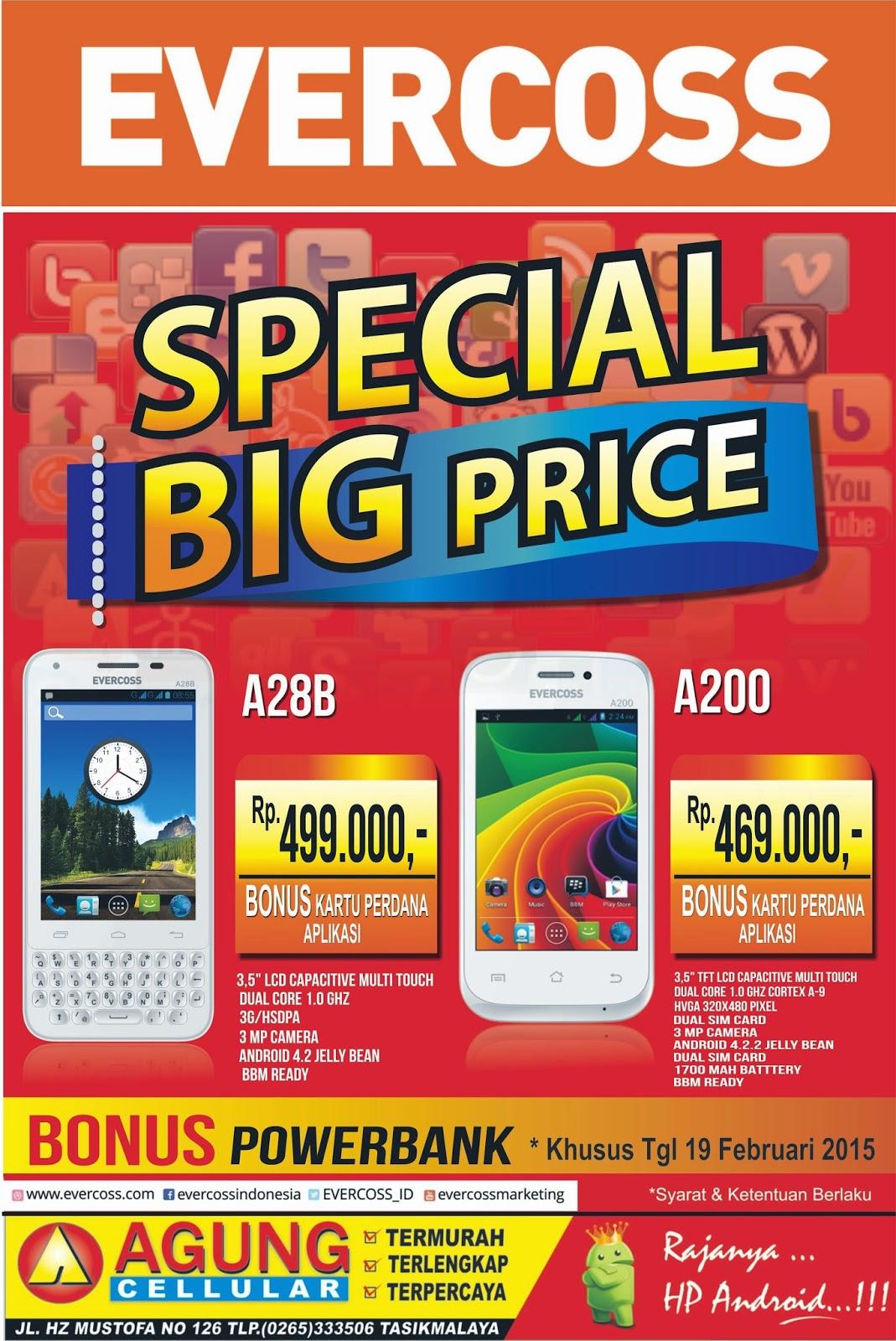 Agung Celullar Termurahterlengkap Dan Terpercaya Februari 2015 Evercoss A28b Big Price Dari Beli Sekarang Ke Agungcell Android Super Murah