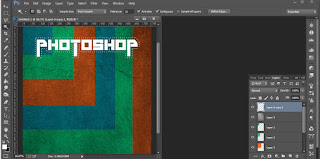Editing Photoshop Membuat Efek Text Retro