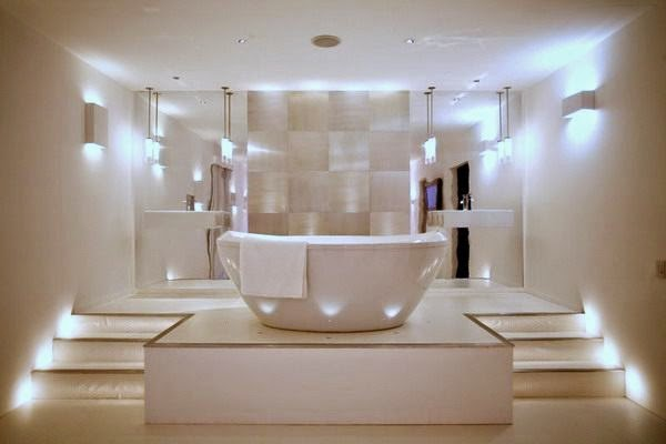 LED Bathroom Lights In Blue Color In White Color