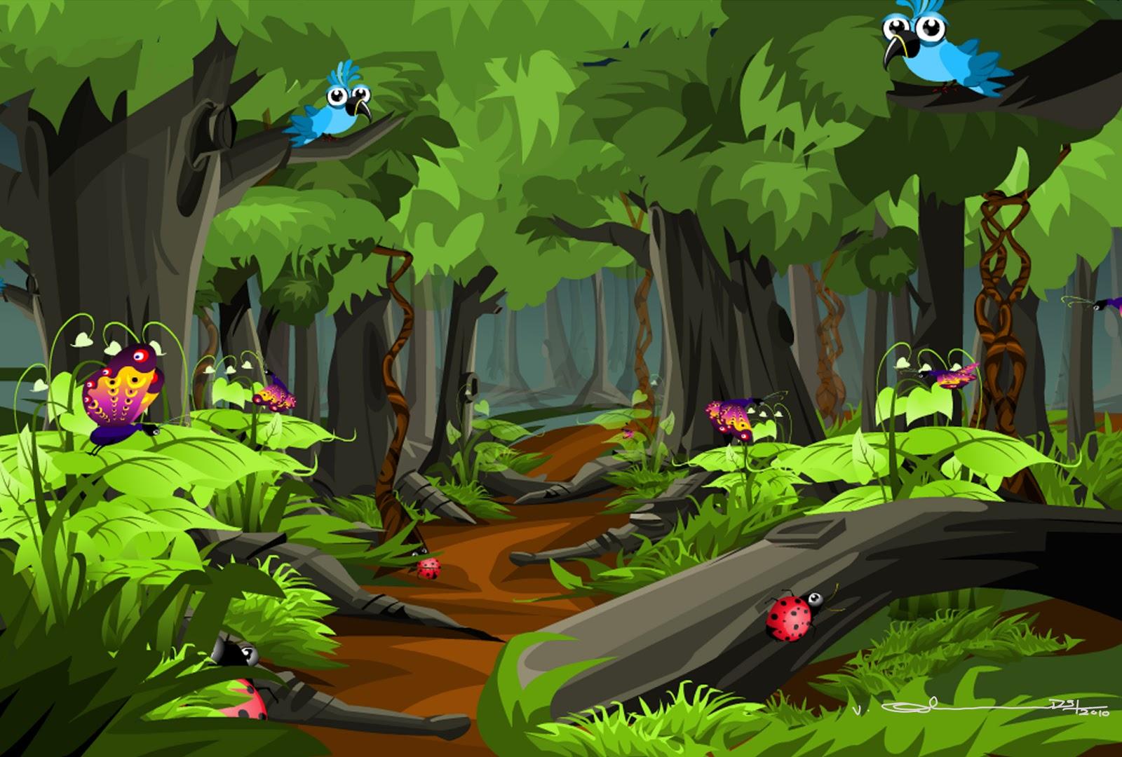 selva fine art cartoon forest Cute Frog Silhouette Tree Frog Vector