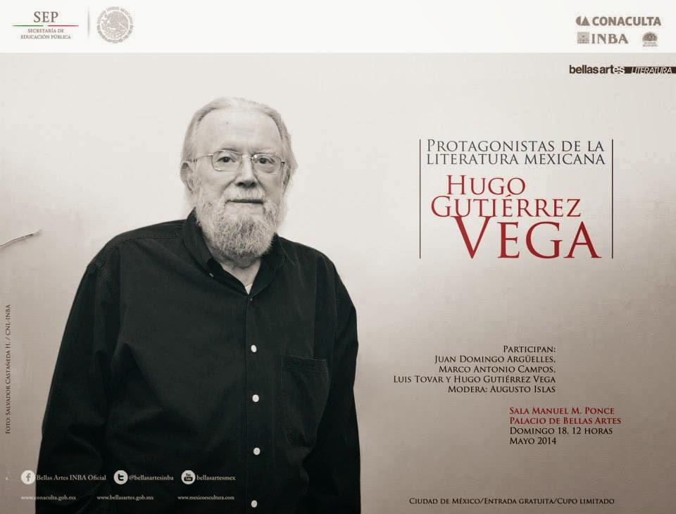 Celebrarán la trayectoria de Hugo Gutiérrez Vega en el Palacio de Bellas Artes
