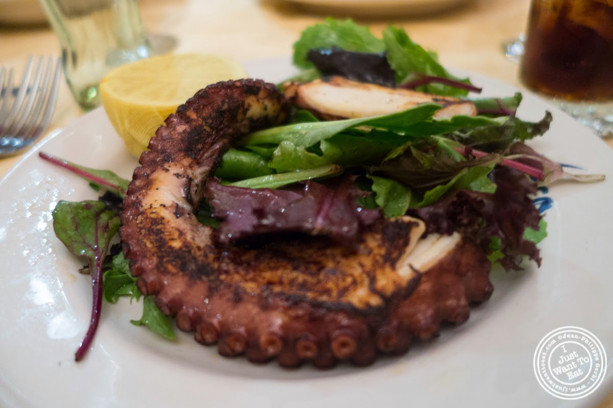 image of grilled octopus at Bricco in Hell's Kitchen, NYC,NY