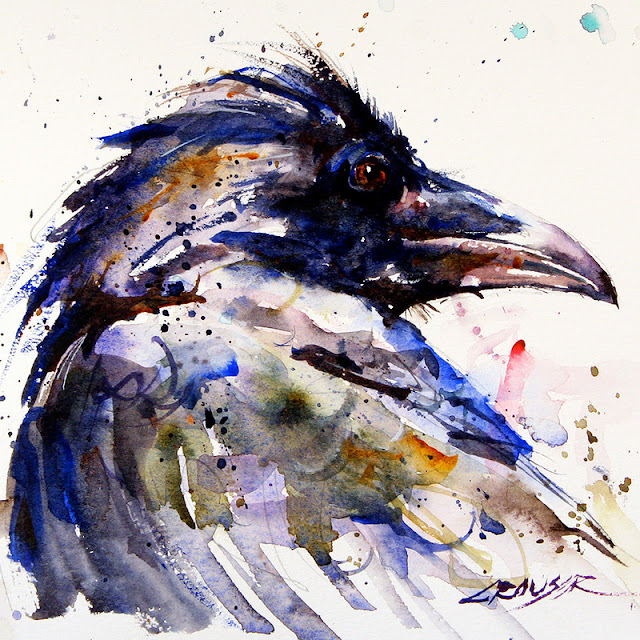 Raven painting abstract