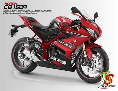 modifikasi Honda CBR 150 lokal - modifikasi honda cbr 150 lokal merah